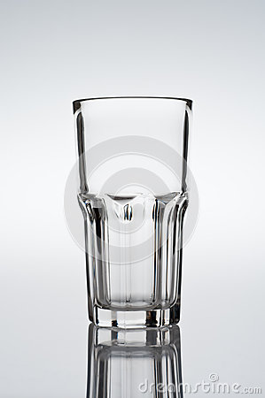 Tumbler, cocktail glass on gradient background