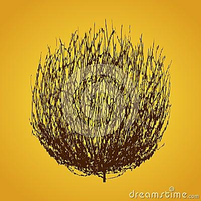 Free Tumbleweed Drawing Vector Royalty Free Stock Image - 59494156
