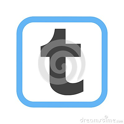 Tumblr Media Social Icon Vector Image Can Also Be Used For Logos Suitable Mobile Apps Web And Print