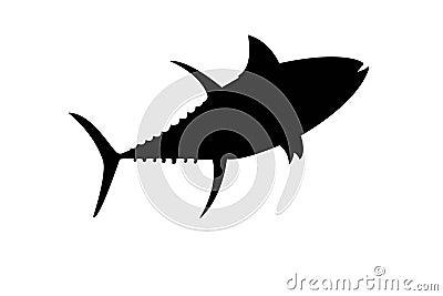 Tuna fish illustration isolate
