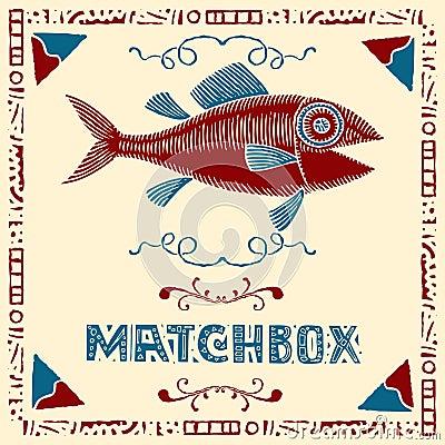 Free Tuna Fish Matchbox Label Stock Photography - 19434892