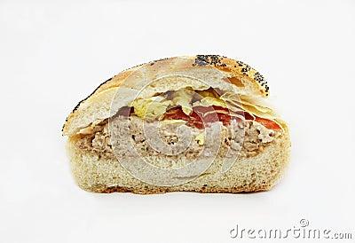 Tuna Fish Sandwich With Lettuce And Tomato