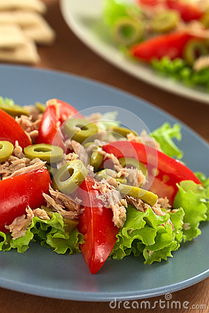 Tuna, Olive and Tomato Salad