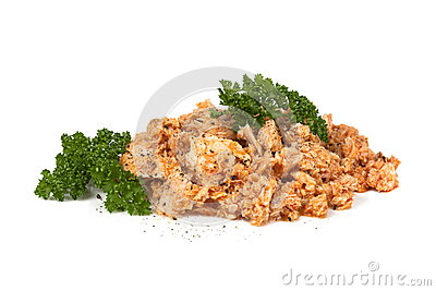 Tuna with Parsley and Pepper on White