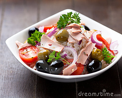 Tuna and rice salad