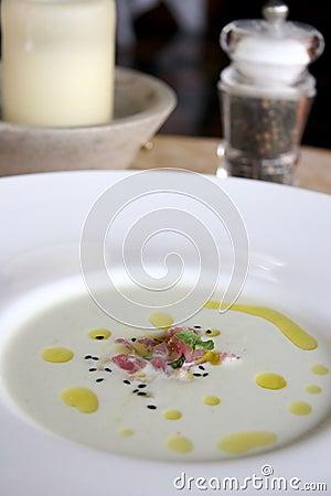 Tuna rich seafood soup