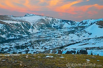 Tundra Glaciers Rocky Mountains Royalty Free Stock Images