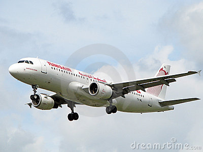 Tunisair aircraft Editorial Stock Photo