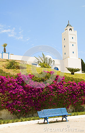 Tunisia Africa Sidi Bou Said mosque