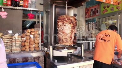 Tunisian Fast Food Stand Stock Video Image Of Tunis