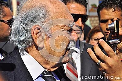 Tunisian interim President Fouad Mebazaa Editorial Image