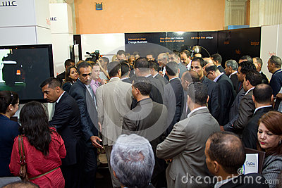 Tunisian Prime Minister opening ICT4ALL Editorial Image
