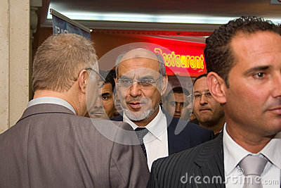 Tunisian Prime Minister opening ICT4ALL Editorial Stock Image