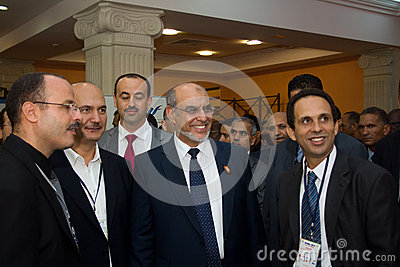 Tunisian Prime Minister opening ICT4ALL Editorial Photography