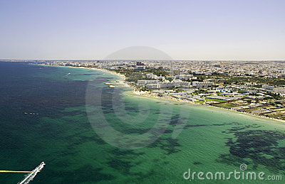 Tunisian shoreline - view from parachute