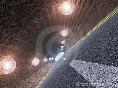 Tunnel and asphalt