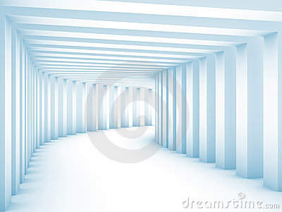 Tunnel with columns