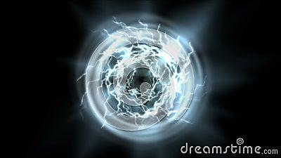 tunnel för energi för boll för makt för abstrakt begrepp 4k magisk, fyrverkerier för magnetisk partikel för blixt vektor illustrationer