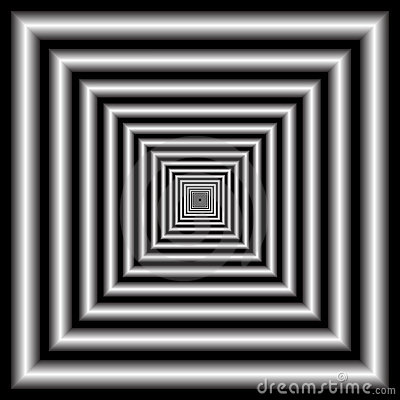 Tunnel. Optic illusion.