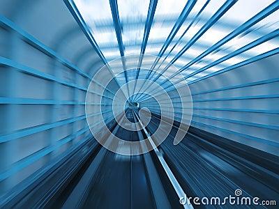 Tunnel of railway