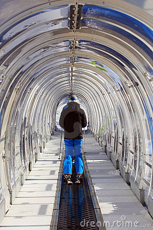 Tunnel for skiing Editorial Image