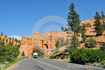 Tunnel to Bryce Canyon National Park