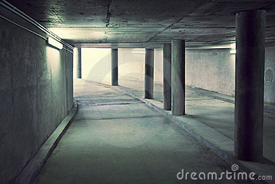Tunnel of underground parking