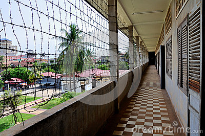 Tuol Sleng Genocide Museum,Phnom Penh, Cambodia Editorial Photography
