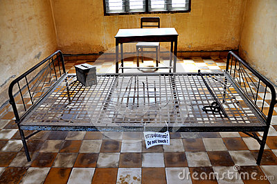 Tuol Sleng Genocide Museum,Phnom Penh, Cambodia Editorial Photo