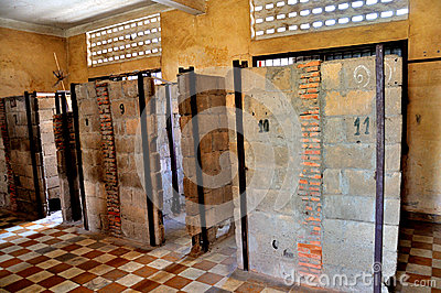 Tuol Sleng Genocide Museum,Phnom Penh, Cambodia Editorial Stock Image