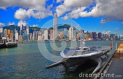 Turanor planetsolar yacht Editorial Photo