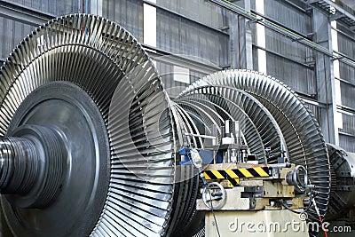Turbina en el taller