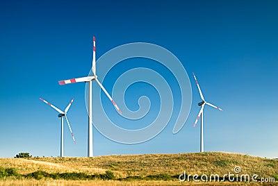 Turbina wiatr krajobrazu