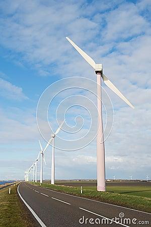 Turbinas eólicas na Holanda