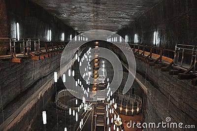 Turda Salt mine Editorial Photo