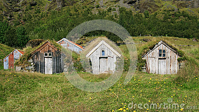Turf Huts In Iceland Royalty Free Stock Image - Image: 26037066