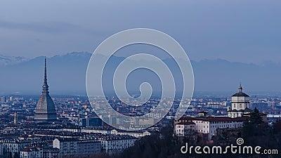 Turin (Torino) HD timelapsepanorama lager videofilmer