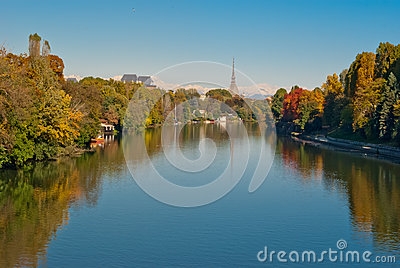 Turin (Torino), panorama with Po river