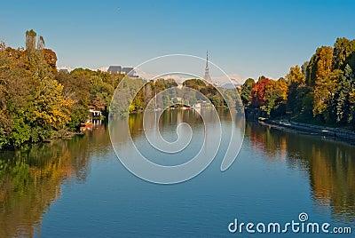 Turin (Torino), panorama with Po river
