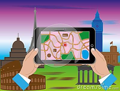 Turismo attraverso il Internet