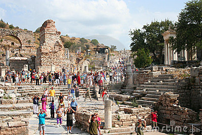 Turisti in ephesus Immagine Editoriale