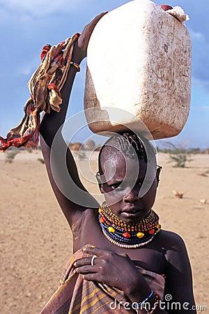 Turkana child portrait Editorial Stock Photo