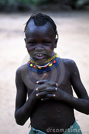 Turkana girl Editorial Stock Photo