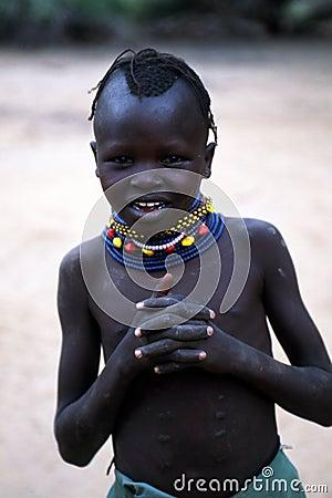 Turkana girl Editorial Stock Photo