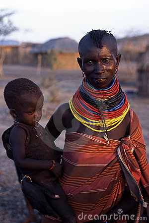 Turkana mother and child Editorial Photography