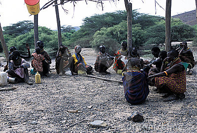 Turkana old women Editorial Stock Photo