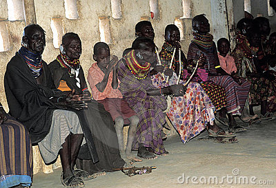 Turkana old women and children Editorial Photography