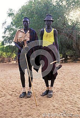 Turkana shepherds Editorial Photography