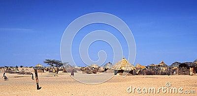 Turkana Village (Kenya) Editorial Stock Image