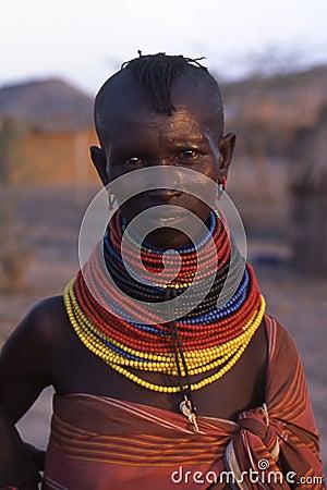 Turkana woman Editorial Image